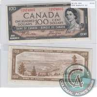 BC-35b $100 1954 Beattie-Coyne, Devil's Face, A/J, VF-EF