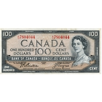 BC-43a Canada $100 1954 Beattie-Coyne, A/J, Extra Fine
