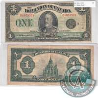 DC-25n Dominion $1 1923 Campbell-Sellar, Black Seal, Group 3, VF