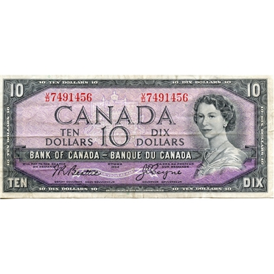 BC-40a 1954 Canada $10 Beattie-Coyne, V/D, Very Fine