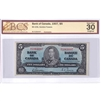 BC-23b 1937 Canada $5 Gordon-Towers, M/C, BCS Certified VF-30, Original