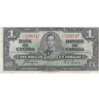 BC-21d 1937 Canada $1 Coyne-Towers, K/N, Very Fine