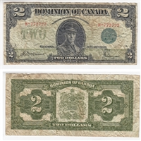 DC-26d 1923 Dominion $2, McCavour-Saunders, Green Seal, Group 1, Series H, VF