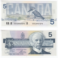 BC-56a 1986 Canada $5 Crow-Bouey, EOC, UNC