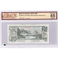 BC-54bA-i $20 1979 Crow-Bouey, Steel Engraved, Replacement, BCS EF-45, Original