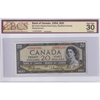 BC-41bA Bank of Canada $20 1954 Beattie-Rasminsky, *A/E, PMG Certified CUNC-63 EPQ