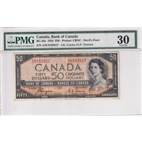 BC-34a Canada $50 1954 Coyne-Towers, Devil's Face, A/H BCS Certified VF-30