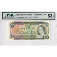 BC-50bA 1969 Canada $20 Lawson-Bouey, Replacement, *EZ, PMG Certified AU-53 EPQ