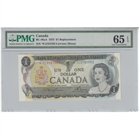 BC-46aA Canada $1 1973 Lawson-Bouey, Replacement, *IL PMG Certified GUNG-65 EPQ