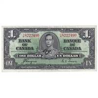BC-21d 1937 Canada $1 Gordon-Towers, T/M, EF