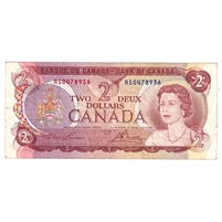 BC-47aT 1974 Canada $2 Test Note, Lawson-Bouey, RS, F