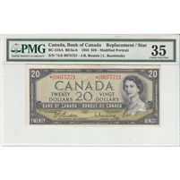BC-41bA 1954 Canada $20 Beattie-Rasminsky, *A/E, PMG Certified Choice VF-35