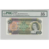 BC-50aA 1969 Canada $20 Beattie-Rasminsky, *EH, PMG Certified Choice VF-35
