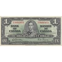 BC-21c 1937 Canada $1 Gordon-Towers, K/L, Extra Fine