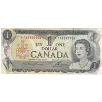 BC-46aA 1973 Canada $1 Lawson-Bouey, *FN, Very Fine