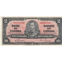 BC-22b 1937 Canada $2 Gordon-Towers, M/B, Very Fine