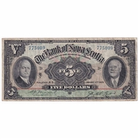 550-34-02 1929 Bank of Nova Scotia $5, Moore-McLeod, Very Fine