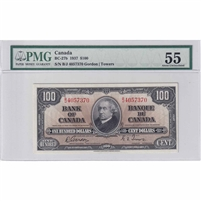 BC-27b 1937 Canada $100 Gordon-Towers, B/J, PMG Certified AU-55