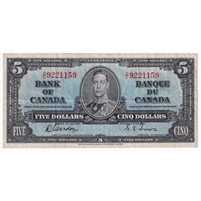 BC-23b 1937 Canada $5 Gordon-Towers, D/C, Very Fine