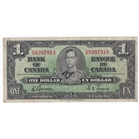 BC-21c 1937 Canada $1 Gordon-Towers, U/A, F-VF