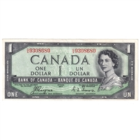 BC-29a 1954 Canada $1 Coyne-Towers, Devil's Face, G/A, EF-AU