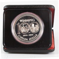 1974 Canada Specimen Silver Dollar - 100th Anniversary of Winnipeg