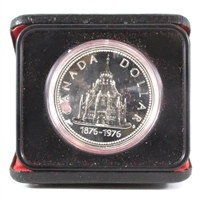 1976 Canada 100th Ann. Library of Parliament Specimen Silver Dollar