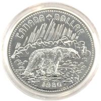 1980 Transfer of Arctic Islands to Canada Specimen Silver Dollar (toned)