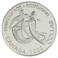 1983 Canada Edmonton, AB World University Games Proof .50 Silver Dollar