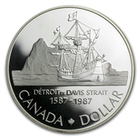 1987 Canada North West Passage Expedition Proof .50 Silver Dollar