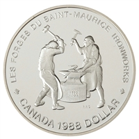 1988 Canada Saint-Maurice Ironworks Anniversary Proof .50 Silver Dollar