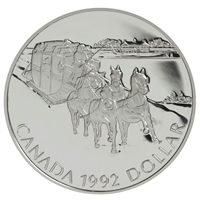 1992 Canada Kingston to York Stagecoach Proof Sterling Silver Dollar