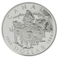1994 Canada RCMP Dog Team Patrol Proof Sterling Silver Dollar