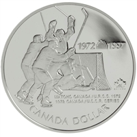 1997 Canada 1972 Canada/Russia Hockey Series Proof Sterling Silver Dollar