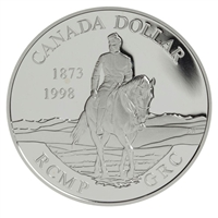 1998 Canada 125th Anniversary of the RCMP Proof Sterling Silver Dollar