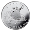 2001 Canada 50th Anniversary National Ballet Proof Sterling Silver Dollar