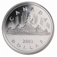 2003 Canada Voyageur Coronation Cased Proof Silver Dollar (No Tax).