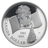 2005 Canada $1 40th Anniversary National Flag Proof Silver (NO Tax)