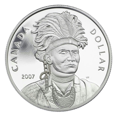 2007 Canada Thayendanegea Proof Sterling Silver Dollar