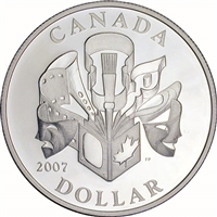 2007 Canada Celebration of the Arts SE Proof Sterling Silver Dollar