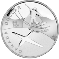 2009 Canada 100th Anniversary of Flight in Canada Proof Silver Dollar