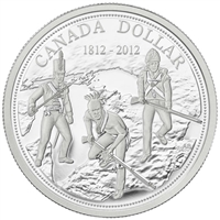 2012 Canada War of 1812 Bicentennial Proof Silver Dollar (No Tax)