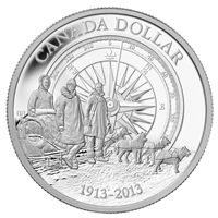 2013 Canadian $1 Arctic Expedition Centennial Proof Silver (NO Tax)