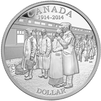 2014 Canada Proof Silver Dollar 100th Ann. Of WWI (TAX Exempt)