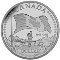 2015 $1 50th Anniversary of the Canadian Flag Proof Silver Dollar (No Tax)