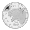 2011 Canada $300 Cougar Platinum Coin (TAX Exempt) Creased Box
