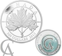2012 Canada $300 Maple Leaf Forever Platinum Coin (TAX Exempt) Creased Box