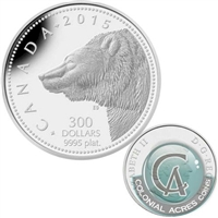 2015 Canada $300 Grizzly Bear Platinum Coin (TAX Exempt) 130594