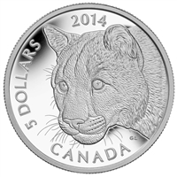 2014 Canada $5 Cougar Platinum Coin (TAX Exempt) 130610