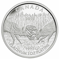2015 Canada $300 The White Tailed Deer - The Battle Platinum (No Tax)